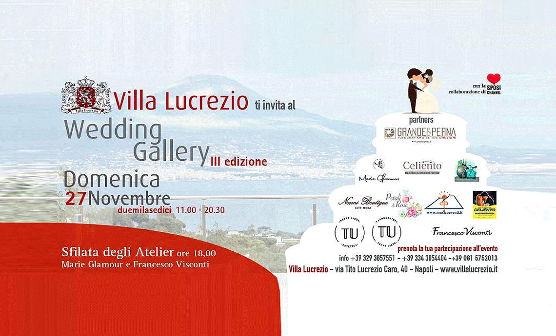 Presenti alla Wedding Gallery a Villa Lucrezio